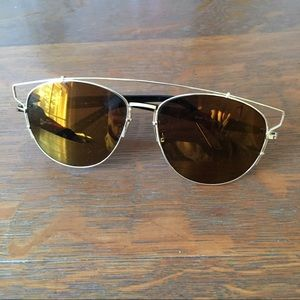 Gold Mirror aviator sunglasses